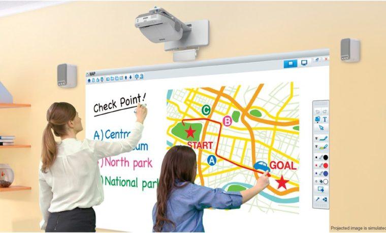 interactive classroom projector