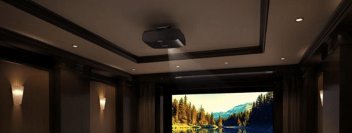 An Epson Pro Cinema 6040UB home theater projector