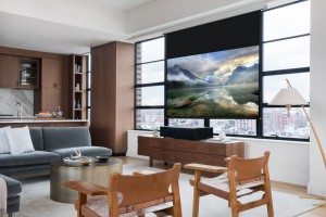 The Sony VZ1000ES is an ultra short throw, true 4K projector with HDR, laser light engine and HDR!