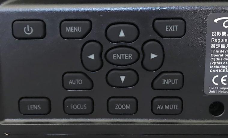 Optoma-ZU660_Control-Panel