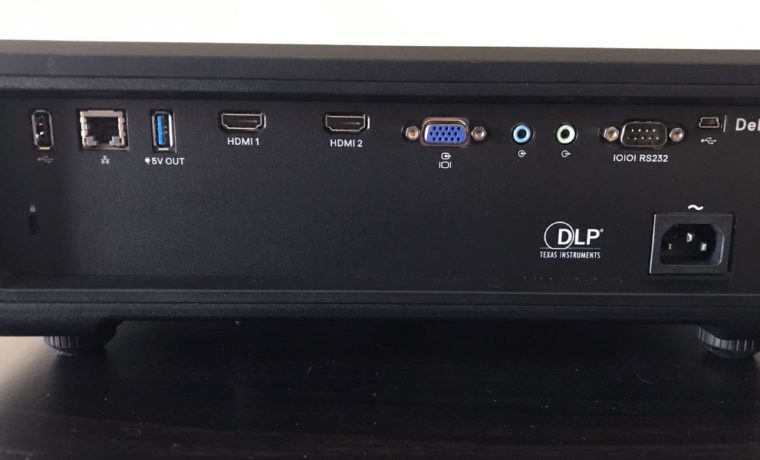 The Dell P519HL has a simple inputs and connectors panel.