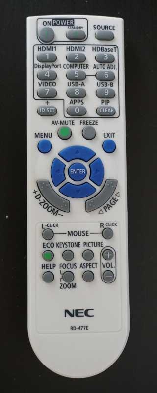 NEC NP-P525UL-remote