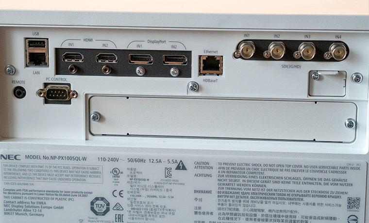 NEC-PX1005QL-Connections